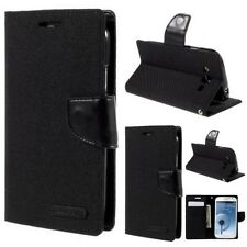 Mercury Goospery Canvas Leather Case Flip Cover For Samsung Galaxy Grand I9082