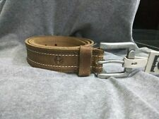 Branded men's leather casual jeans wear belt with antique finish buckle