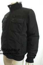 BNWT TOMMY HILFIGER MENS BLACK JACKET FUR LINED COLLAR KEN BOMBER COAT RRP £190
