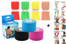 3x TAPING KINESIOLOGICO SIMPLE TAPE + 12 ISTRUZIONI - 5m in diversi Sparsets