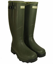 Hunter Balmoral 3mm Neoprene Lined Wellington Boots - Dark Olive - UFT4009RNT