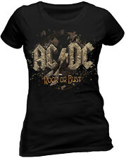 Official AC DC Rock Or Bust  T Shirt Ladies Skinny M L XL XXL New Album Cover