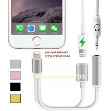 iPhone 7 7Plus Lightning to 3.5mm Aux Headphone Audio Jack And Charger Adapter