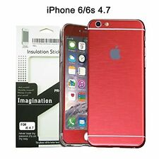 Brushed Metal Full Body Skin Sticker Aluminum Decal Wrap Cover for iPhone 6 /..