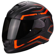 Casco Scorpion Exo 510 Radium negro mate naranja integral moto