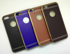APPLE IPHONE 5G/5S IMPORTED PREMIUM LEATHER FINISH SILICON BACK CASE COVER,