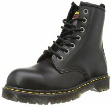 Dr Martens Genuine Industral New Black 7 Eye Mens Leather Icon Boot Rock