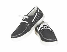 Quarks Men's Casual Canvas Shoes- Black Color - Q1050BK