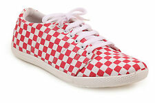 Quarks Pink Check Canvas Shoes For Men (Q1080PK)