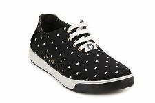 Quarks Black Star Canvas Shoes For Men (Q1071BK)