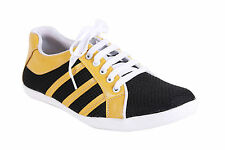 Quarks Men's Stylish Casual Mesh Shoes - Yellow Color - Q1059YL