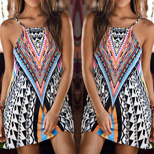 Women Fashion summer Korean Style Strapless cotton dress print sling mini dress
