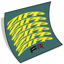 2014 Fluo Yellow zipp style decals stickers for carbon wheels 202 303 404 808
