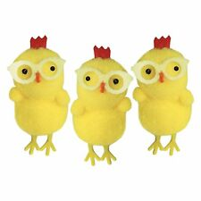 Yellow Easter Chenille Chicks with Glasses - Easter Bonnet Parade Decorations