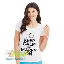 Maglietta Keep Calm And Marry On