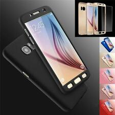 Hybrid 360° Hard Case Cover +Tempered Glass Cover For Samsung Galaxy S8 S7 Edge