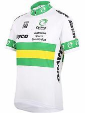 Santini White 2016 Australian National Team Short Sleeved Cycling Jersey