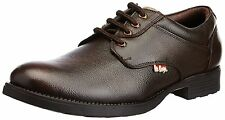 Lee Cooper Brand Mens Brown Laced Leather Causal Shoes LC9518