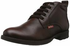 Lee Cooper Brand Mens Brown Laced Leather Causal Boots Shoes LC9519