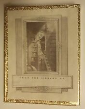 NEW BOX OF 50 ANTIOCH BOOKPLATES - MAN ON LADDER IN LIBRARY. SEALED.