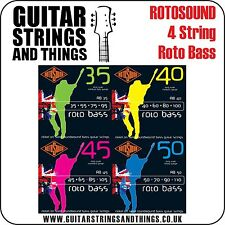 Rotosound ROTO BASS 4 STRING Electric Bass Guitar Strings - RB35 RB40 RB45 RB50