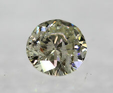 Certified 0.43 Carat J Round Brilliant Enhanced Natural Diamond 4.88mm VG VG VG