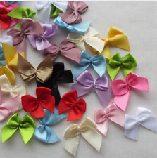 50pcs Mini Satin Ribbon Flowers Bows Gift Craft Wedding Decoration U pick DIY