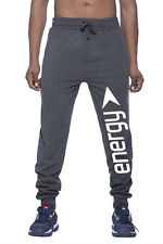 Clifton Mens FLL Printed Thermal Sweat Pant-Charcoal Melange-White Energy