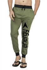 Clifton Mens FLL Printed Coloured Slimfit Trackpant-Olive-Black Energy