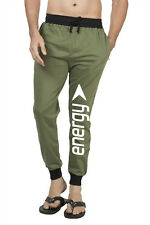 Clifton Mens FLL Printed Coloured Slimfit Trackpant-Olive-White Energy