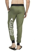 Clifton Mens BLL Printed Coloured Slimfit Trackpant-Olive-White Endurance