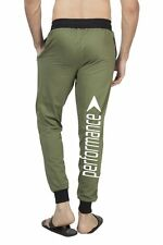 Clifton Mens BRL Printed Coloured Slimfit Trackpant-Olive-White Performance