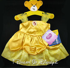 BUILD-A-BEAR BELLE YELLOW COSTUME DRESS TEDDY DISNEY PRINCESS CLOTHES OUTFIT NEW