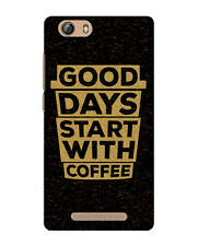 Gionee M5 S6s S7 Good Days Start With Coffee Back Cover Case Design Print