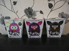 BOXED 2012 ALL BLACK PURPLE PINK YELLOW EAR FURBY INTERACTIVE ELECTRONIC PET TOY