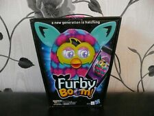 BOXED OFFICIAL HASBRO FURBY BOOM BLUE PINK HEARTS INTERACTIVE ELECTRONIC PET TOY