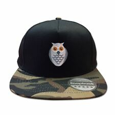Mens Snapback Cap Retro Style Six Panel Hip Hop Owl Face Baseball Summer Hat
