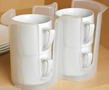 """NEW~MUG  OR CUP RACK~HOLDS 4 CUPS/MUGS~PERFECT FOR CUPBOARD/WORKTOP~6""""x 10"""" x 4"""""""