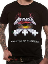 """NEW,SEALED AND OFFICIAL METALLICA """"MASTER OF PUPPETS"""" BLACK UNISEX T-SHIRT"""