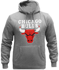 Mitchell & Ness NBA Chicago Bulls Logo Del Equipo Sudadera Gris Suéter Hombres