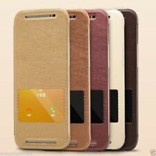 HTC One M8 Flip Cover KLD / KALAIDENG Smart View Awakening Leather Stand Cover