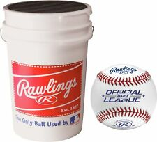 Rawlings ROLB1X Practice Baseballs with Bucket (3 Dozen)