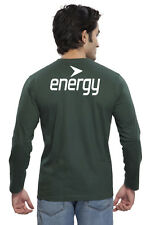 Clifton Mens BT Printed Full Sleeve V-Neck T-Shirt-Bottle Green-White Energy