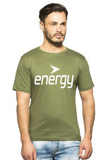 Clifton Mens FT Printed Half Sleeve R-Neck T-Shirt-Olive-White Energy