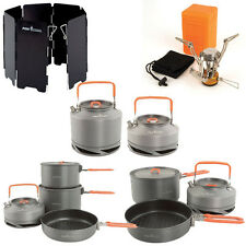 New Fox Cookware Set Pans Canister Stove Windshield Kettle - Complete Range