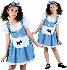 Girls Fairy Tale Dorothy Fancy Dress Costume Kids Childrens Book Day Outfit