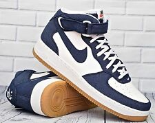 Nike Air Force Mid 07 ® ( Men Size UK 11 EUR 46 ) Obsidian Denim / Gum Brown NEW