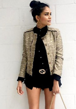 ZARA BEAUTIFUL SMART ELEGANT BOUCLE KNITTED BLAZER JACKET COAT size XL