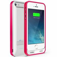 Maxboost Atomic S External Protective iPhone 5S Battery Case - White/Pink