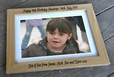 Personalised wooden photo frame, 6x4 7x5 8x6 or A4 size, 16th birthday present